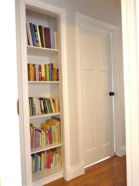 turn a closet into a built in bookshelf metz interiors