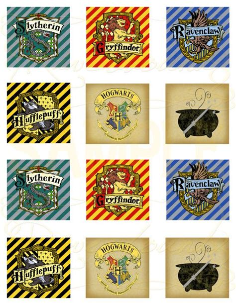 hp printable gift tags printable harry potter cupcake toppers or favor tags