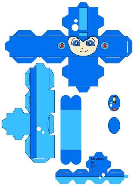 Megaman Papercraft - mega cubeecraft by scarykurt on deviantart