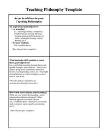 Leadership Philosophy Template by 25 Best Ideas About Teaching Philosophy On