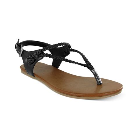 mioa sandals joi braided flat sandals in black lyst