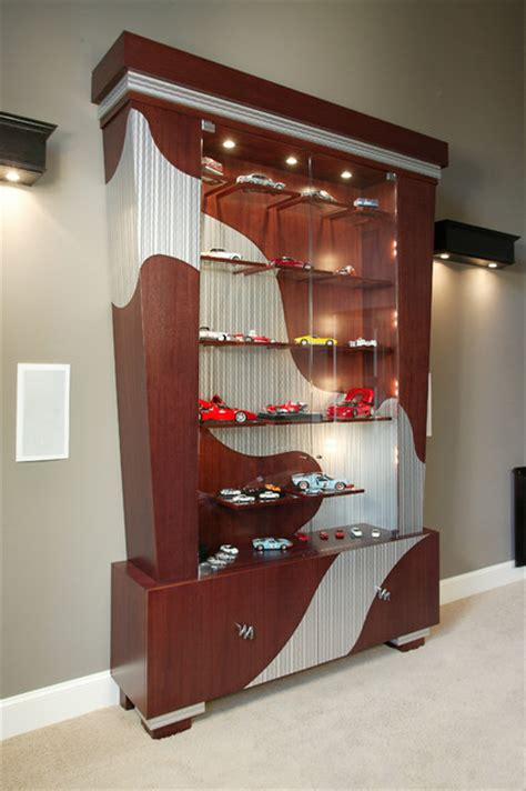 Home Theater Room Decor Design by Display Cabinet Modern Home Theater Seattle By