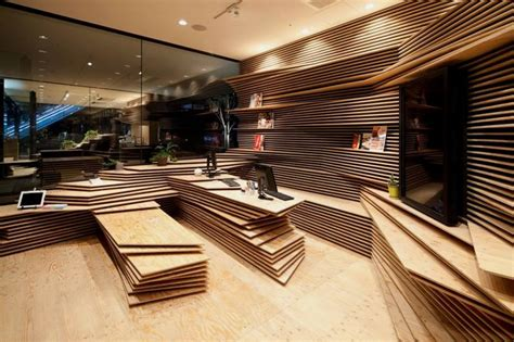 modern interior    stacked papers shun