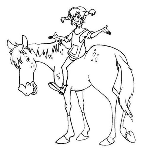 cars pippi s coloring pages pippi longstocking riding horse coloring pages bulk color