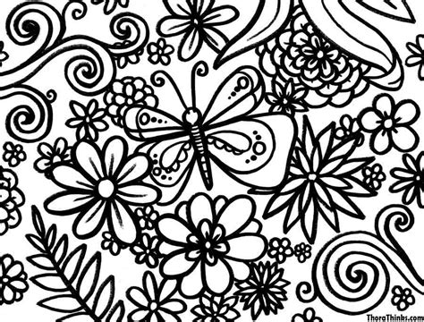 printable spring coloring pages for adults free coloring pages of hard spring