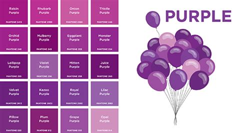 shades of purple color chart pantone for teaching color to toddlers best books for small for big