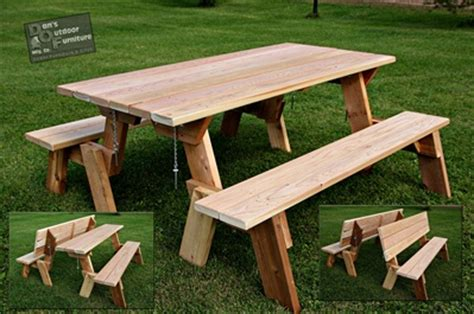 picnic table bench combo download bench picnic table combo plans free