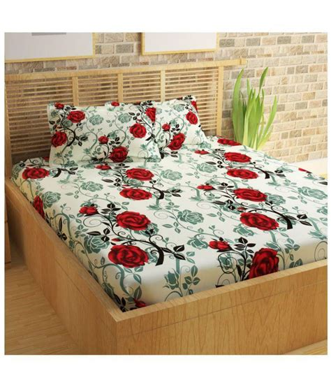 100 best bed sheet material story home 120 tc 100 story home 100 cotton 120 tc red double bedsheet with 2