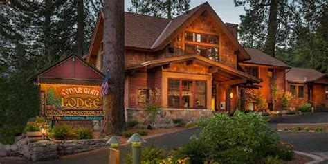 Cabin Resorts Cedar Glen Lodge Lake Tahoe