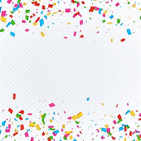 confetti background confetti background with space vector free