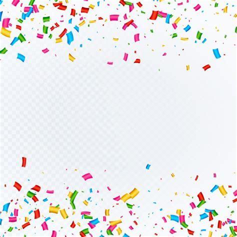 Fond abstrait avec vecteur de confettis tombant