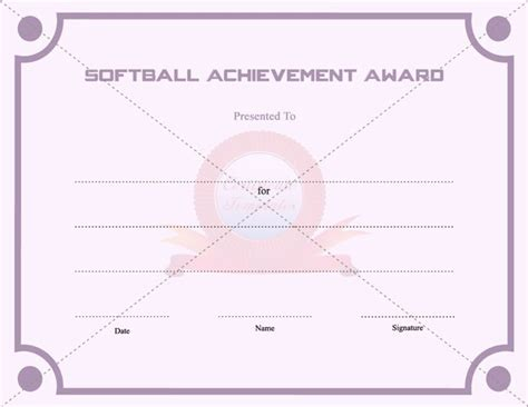 softball certificate templates free 20 best images about achievement certificate templates on