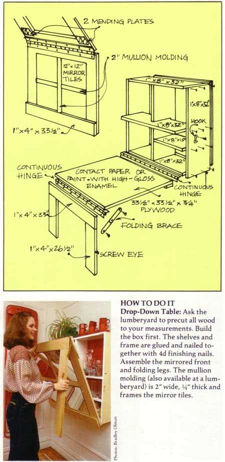 murphy craft table plans woodworking projects plans
