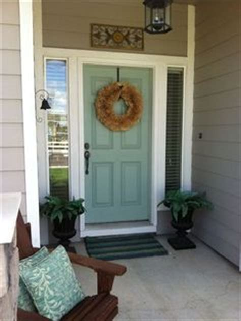 valspar woodlawn juniper for front door pretty would look with yellowy brick quot if quot we