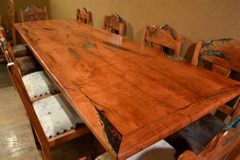 mesquite wood dining table one of a mesquite furniture turquoise butterfly