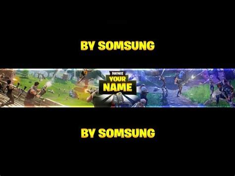 Fortnite Banner Template Photoshop Version With No Text By Somsung Downloads In Desc Fortnite Banner Template No Text