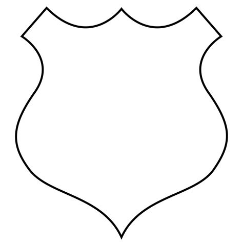Image Outline by Best Badge Shield Outline Clipart Image