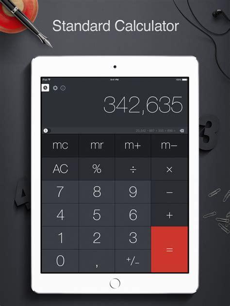 calculator x app calculator pro for ipad by apalon apps