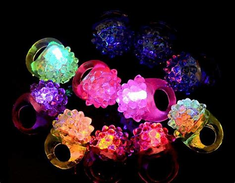 light up jelly rings 36 led flashing color light up bumpy rings raves party