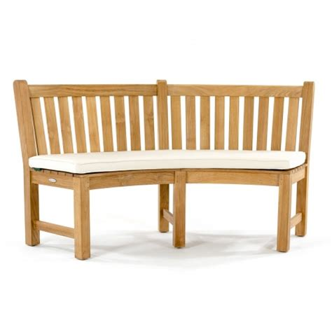 teak bench cushions sunbrella curved bench cushion westminster teak outdoor