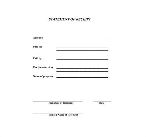 Generic Receipt Template Word by Generic Receipt Receipt Template Doc For Word Documents