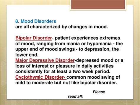 bipolar daily mood swings complete psychological disorders list