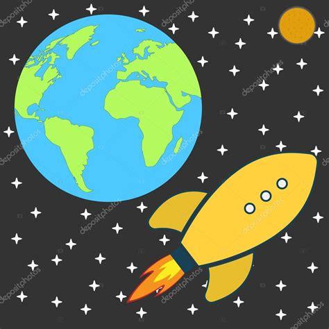 imagenes retro dibujos animados planos dibujos animados retro nave espacial del cohete a