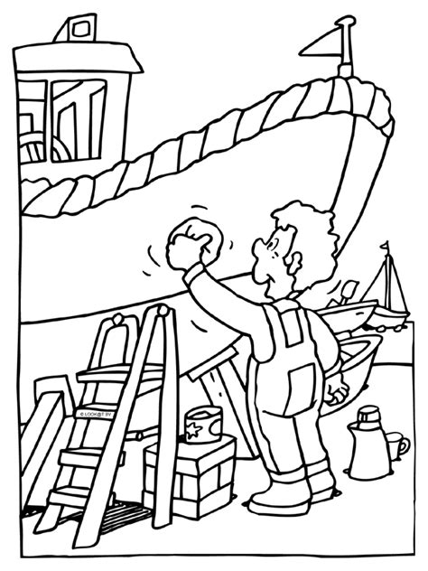Poetsen Schoonmaken Boot Knutselpagina Nl And Boots Coloring Page