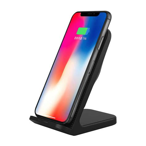 qi wireless fast charger for iphone xr xs charging stand holder dock cooling fan ebay