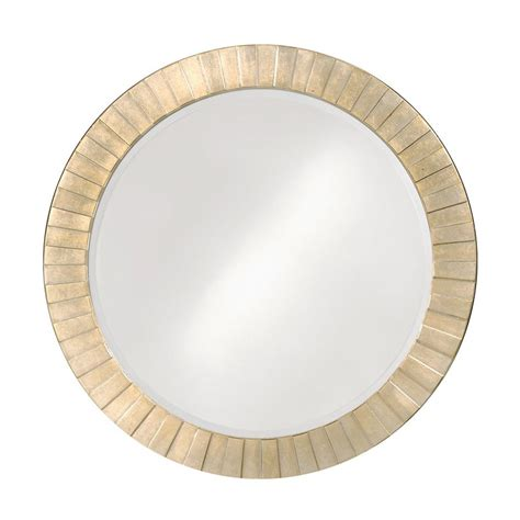 round silver bevelled mirror shop dillon serenity silver leaf beveled wall mirror at lowes