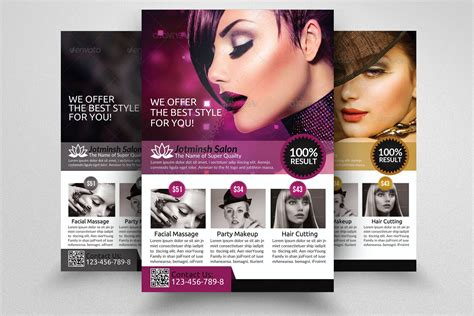 beauty salon flyer template flyer templates creative