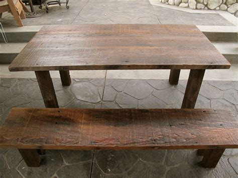 Reclaimed Wood Outdoor Dining Table Arbor Exchange Reclaimed Wood Furniture Outdoor Dining Table Bench