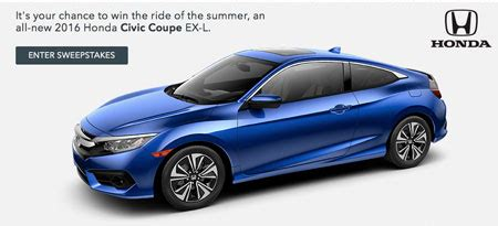 Honda Giveaway 2016 - honda 2016 honda stage at music festivals sweepstakes sun sweeps
