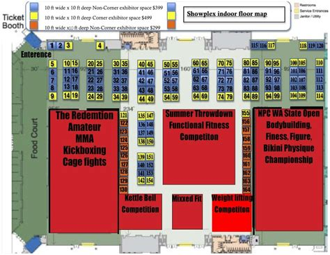expo floor plan wa state fitness expo health fitness beauty expo