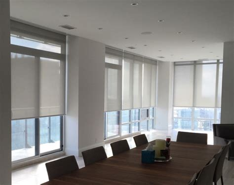 automated shading lighting control automated roller shades gline
