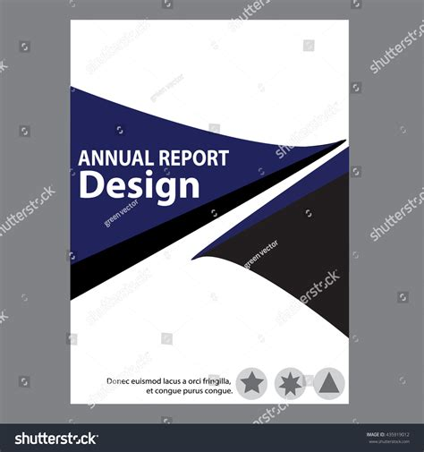 blue annual report title page sle cover page design