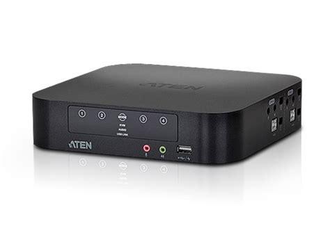 Dijamin 4 Load Audio Switch 4 port usb mini displayport audio dual display kvmp switch cables included cs1944 aten