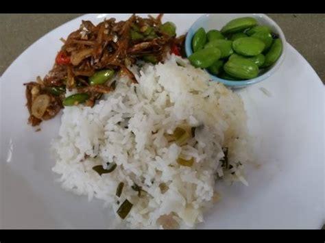 youtube membuat nasi liwet resep nasi liwet ikan teri pete youtube