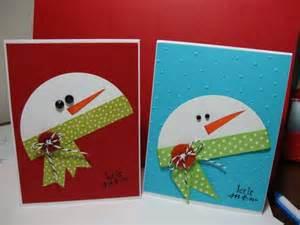 snowman card scrapbooking cards