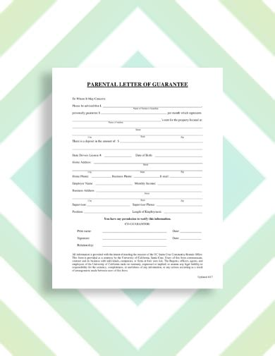 rental guarantor letter examples templates