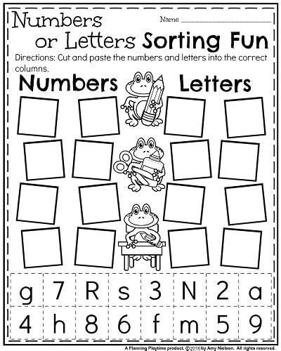 printable letters and numbers for preschoolers back to school kindergarten worksheets kindergarten