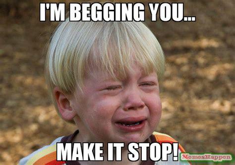 Stop Meme - i m begging you make it stop