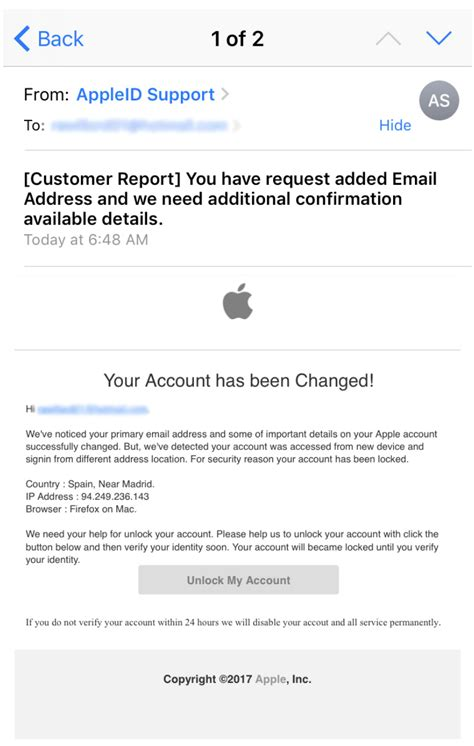 apple email support scam alert bbb warns community of apple support scam