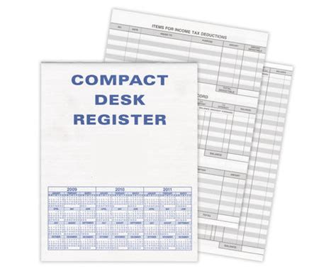 Desk Register by Compact Desk Transaction Register American Bank Checks