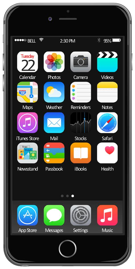 iphone icon template ios 8 iphone 6 home screen template