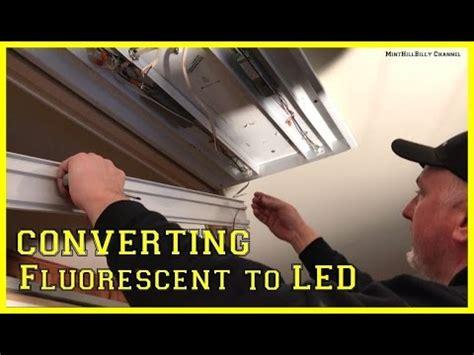 Convert Fluorescent Light Fixture To Incandescent How To Convert A Fluorescent Light Fixture To Led