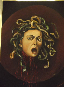 testa di medusa caravaggio testa di medusa valerio errani opera celeste network