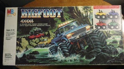 bigfoot monster truck game vintage 1984 bigfoot 4x4x4 monster truck board game no 4422 by