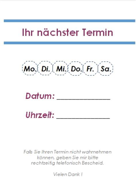 word terminzettel vorlagen office lernencom