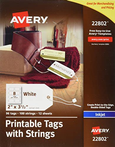 printable tags with strings for laser printer avery printable tags with strings for inkjet printers 2